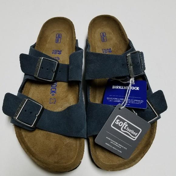 7e80d5a615f43 New Birkenstock Arizona Navy Soft Footbed Sandals